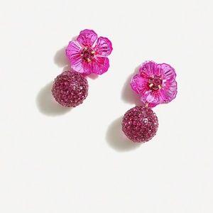 J. CREW Pave Drop Earrings